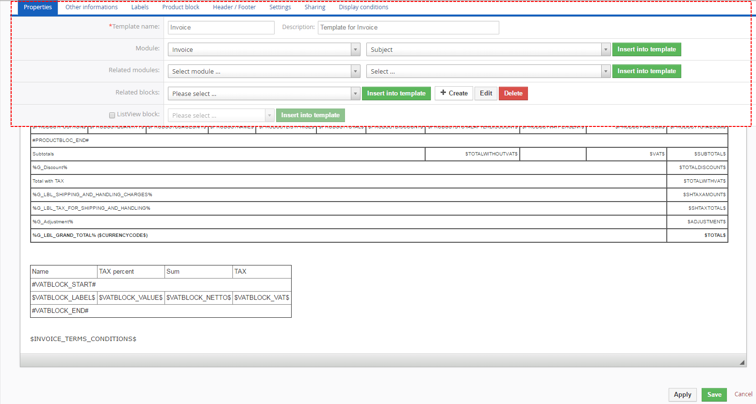 8. tips & tricks, Invoice examples