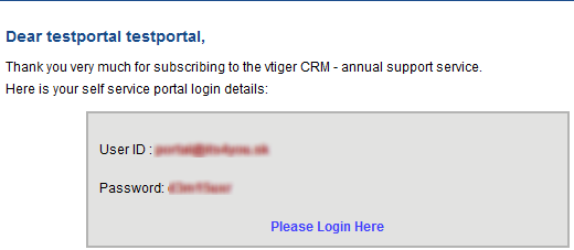 Reset Customer Portal Password for vtiger 6